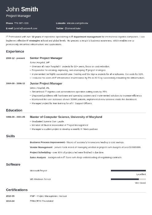 20 cv templates
